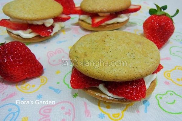 草莓海绵小蛋糕的做法