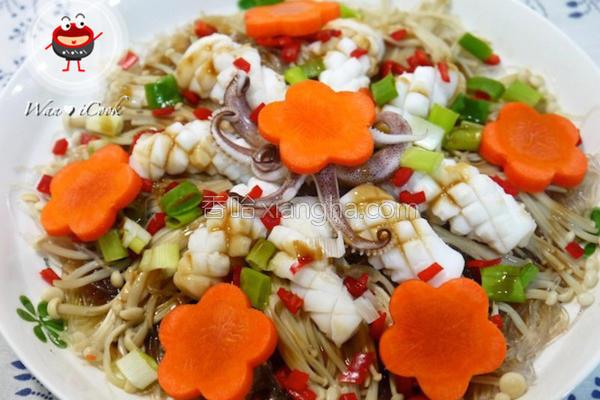 蒜茸粉丝蒸海鲜的做法