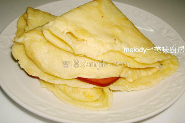 家常火腿蛋饼的做法