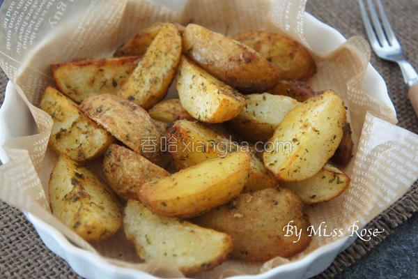 起司香料烤马铃薯的做法