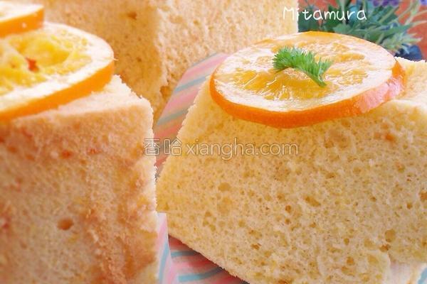 橙香米粉戚风蛋糕的做法