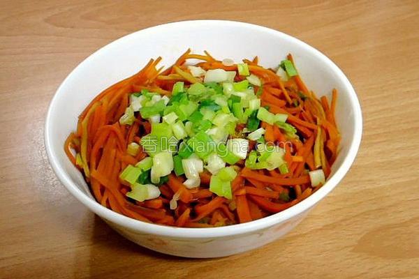 炒姜丝胡萝卜的做法