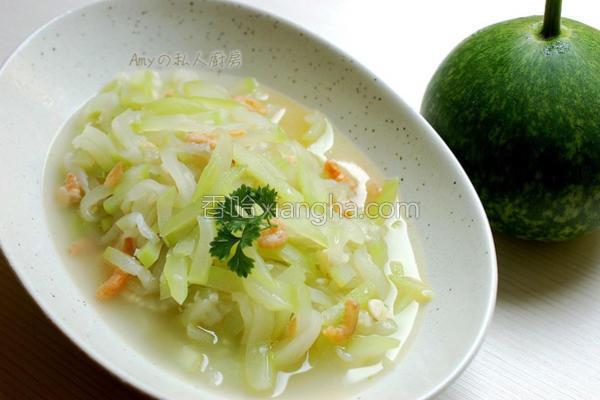 虾米炒蒲瓜的做法