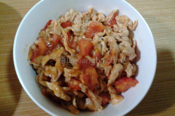 番茄炒猪肉的做法