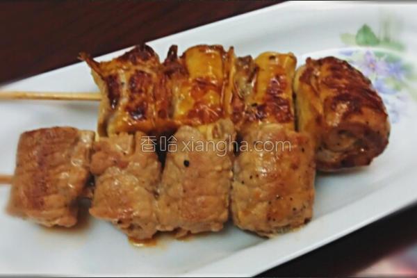 香煎烤肉串的做法