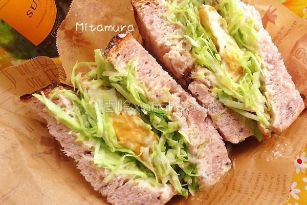 高丽菜沙拉三明治的做法