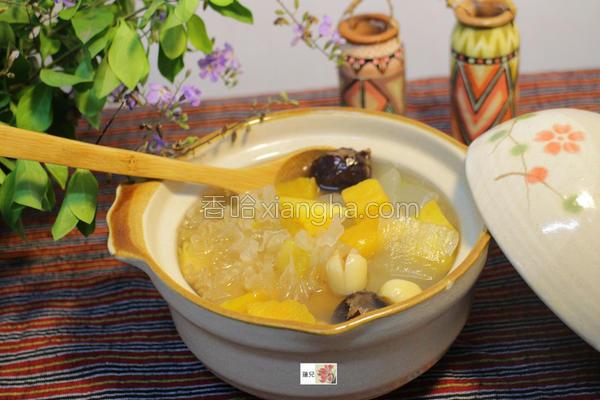 芦荟莲子养生甜汤的做法
