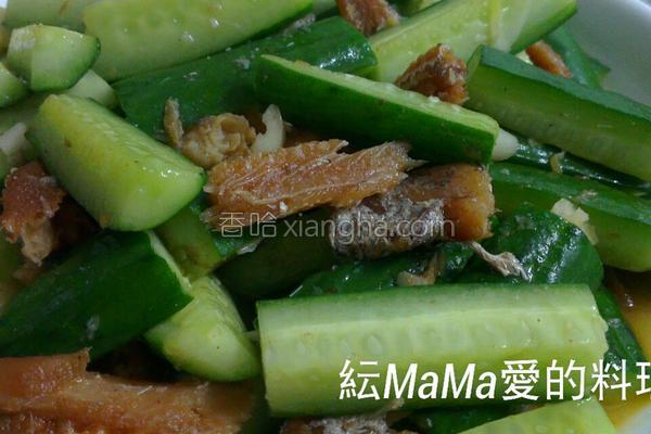 黄瓜拌红烧鳗鱼罐的做法
