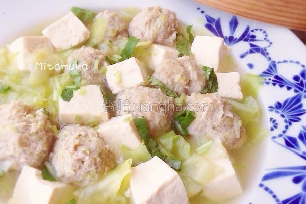 肉丸豆腐清汤的做法
