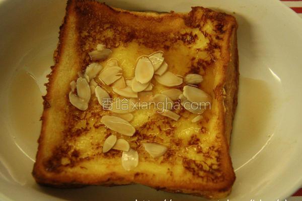 枫糖杏仁法式土司的做法