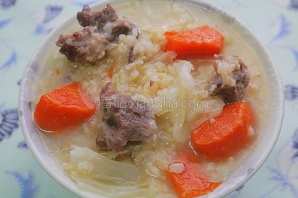 糙米排骨粥的做法