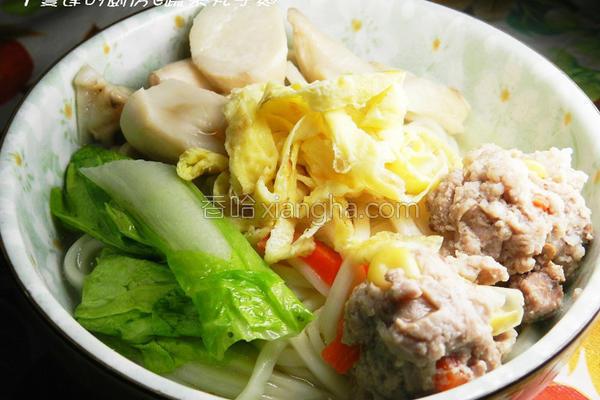 蔬菜丸子汤面的做法
