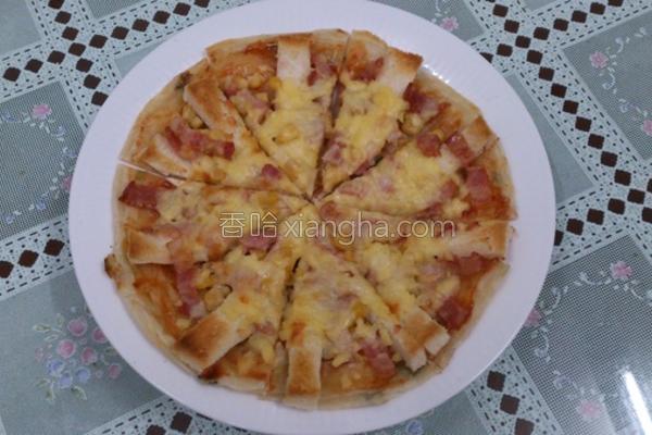 培根玉米披萨的做法