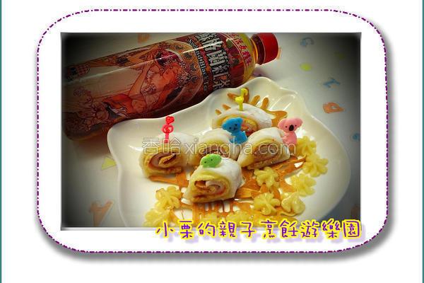 红茶栗子麻糬卷的做法