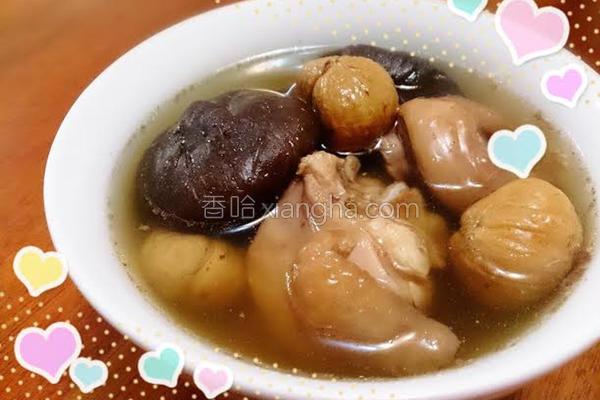 香菇栗子鸡汤的做法