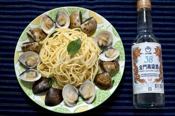 高粱蛤蛎意大利面的做法