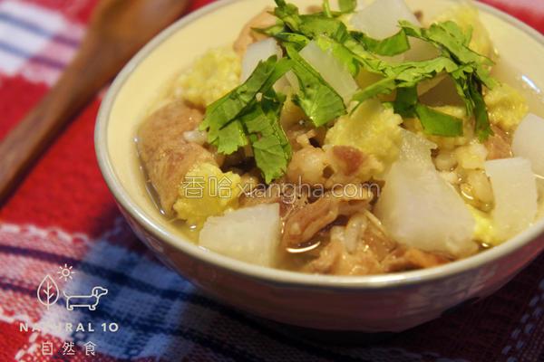 涮羊肉萝卜汤泡饭的做法