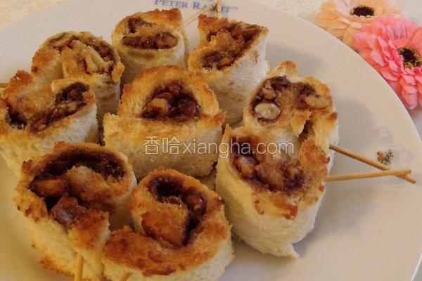 核桃肉桂吐司卷