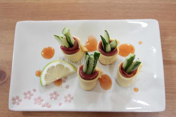 清爽培根蔬菜卷的做法