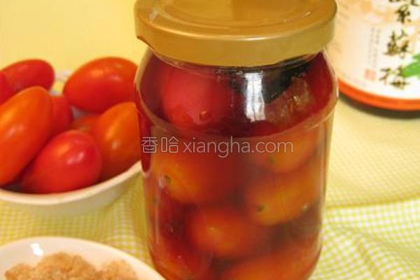 爆浆梅渍番茄的做法