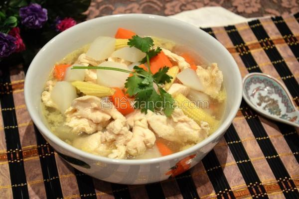 萝卜鸡肉汤的做法