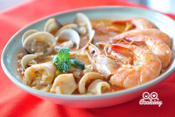 叻沙海鲜粥的做法