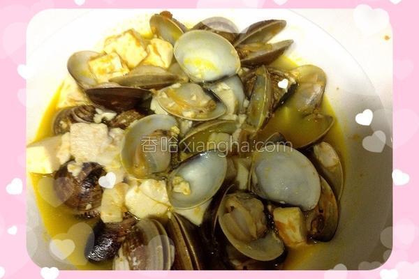 蛤蜊豆腐烧的做法