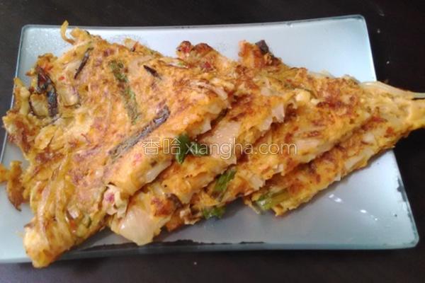 韩式泡菜煎饼的做法