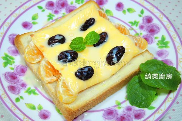 柑橘炼奶起司土司的做法