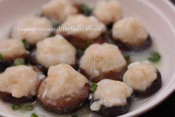 百花酿鲜冬菇的做法