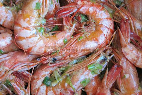 青葱炒虾的做法