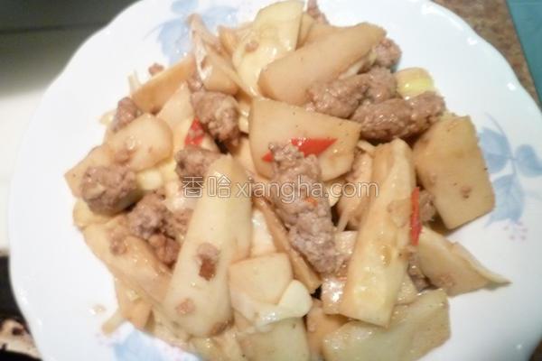 竹笋炒肉条的做法