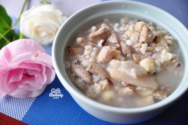 四神猪肠糙米粥的做法