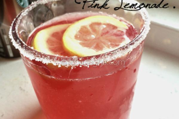 粉红柠檬水的做法