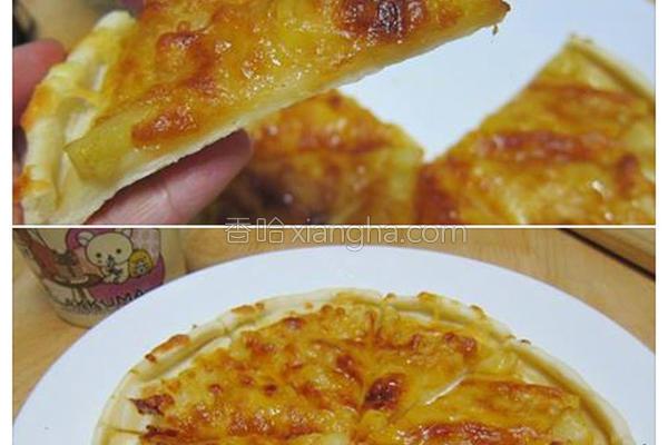 焦糖苹果披萨的做法