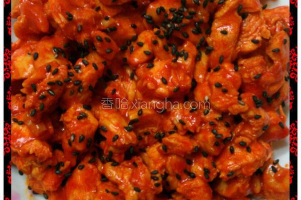 韩式辣酱鸡丁的做法