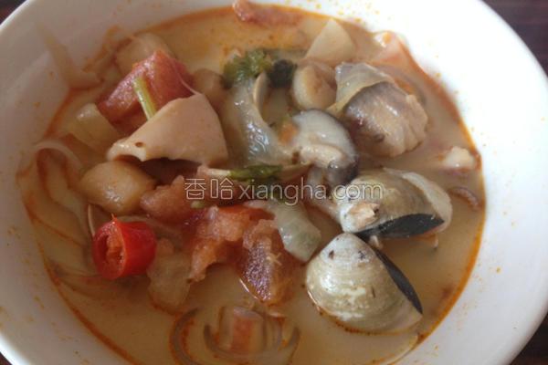 泰式酸辣海鲜浓汤的做法