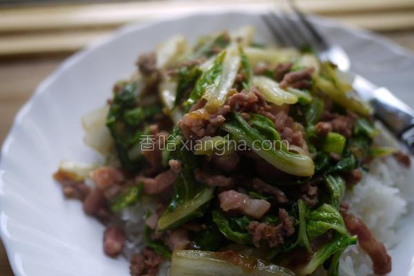 翠玉白菜炒肉丝的做法
