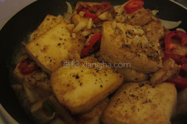 铁板蛋豆腐的做法