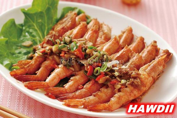 沙茶干烧虾的做法