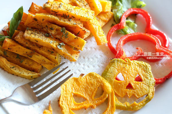 南瓜烤薯条的做法