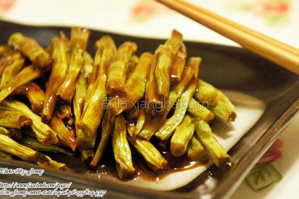 酱烤蜜汁四季豆的做法
