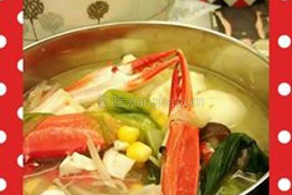 北海道螃蟹味噌锅的做法