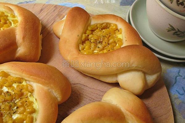芥末玉米船形面包的做法