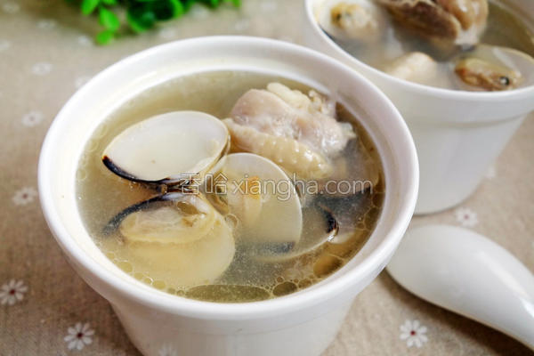 蒜头蛤蛎鸡汤的做法
