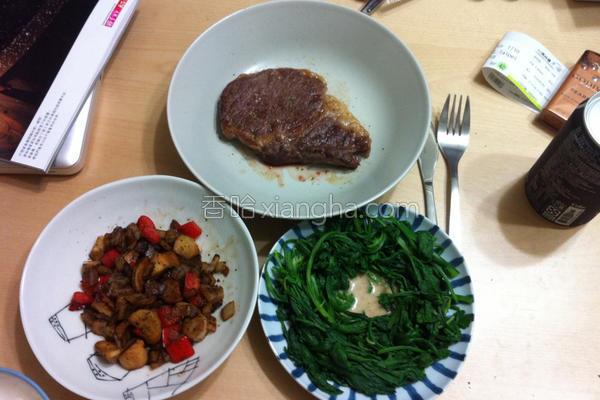 15分钟牛排晚餐的做法