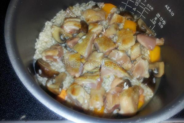 鲜菇南瓜炊饭的做法