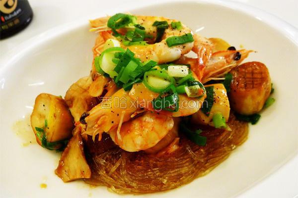 双菇虾煲的做法