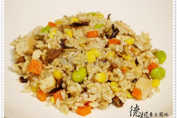 养生催芽米炒饭的做法