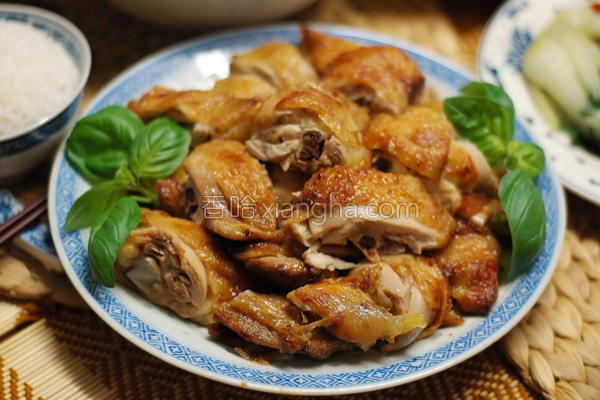 烤盐焗鸡的做法